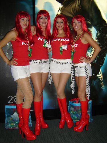 O que são pontos vermelhos na E3? As garotas da Nyko, é claro