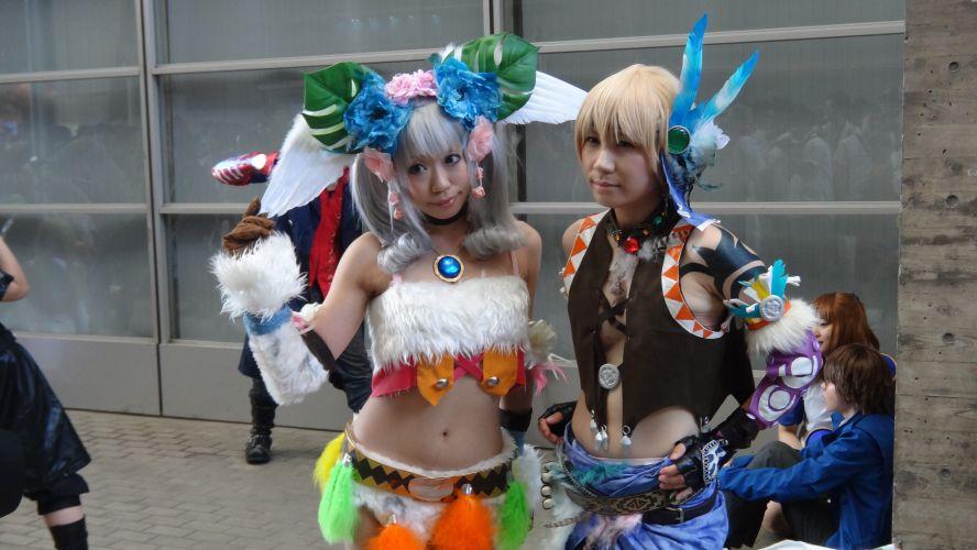 Trajes extravagantes não faltaram na área de cosplays da TGS