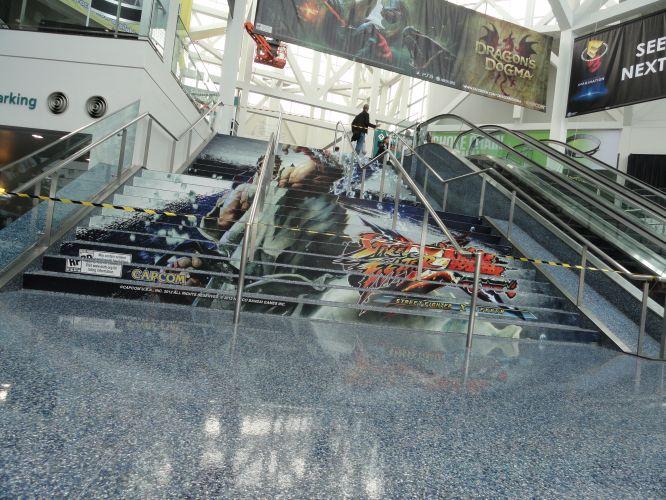 As escadas foram tomadas pelos lutadores de