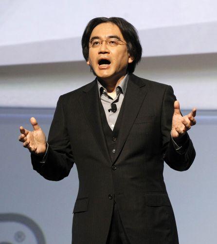 Satoru Iwata, presidente global da Nintendo, discursa em coletiva pré-E3 da empresa