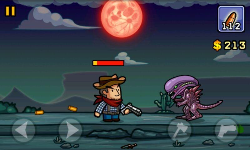 Alienígenas estão atacando a cidade e o jogador deve exterminá-los com pistolas e machados em