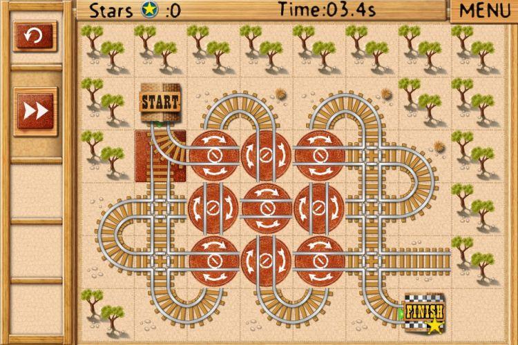 Comandar os trilhos e fazer o trem chegar ao destino é o objetivo do quebra-cabeça