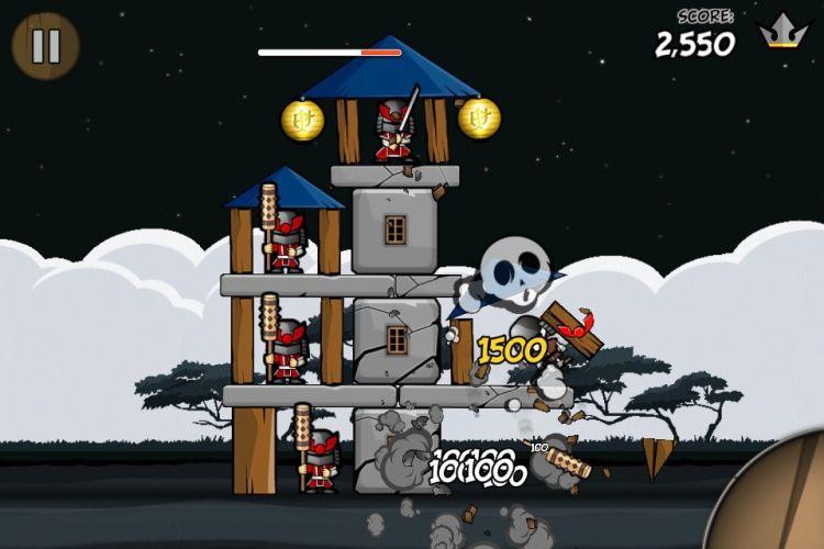 Jogos de destruir coisas são comuns nos celulares.