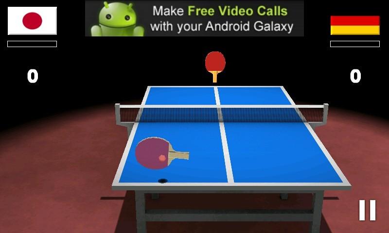 Use o dedo e controle a raquete no tênis de mesa de