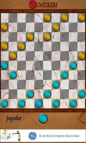 Que tal uma partida do clássico jogo de damas? Sob o nome de