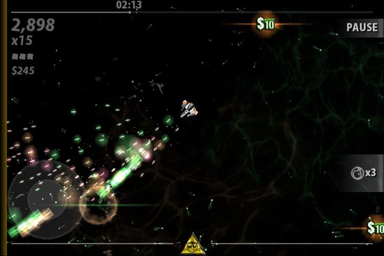 Game de tiro espacial cheio de efeitos especiais,