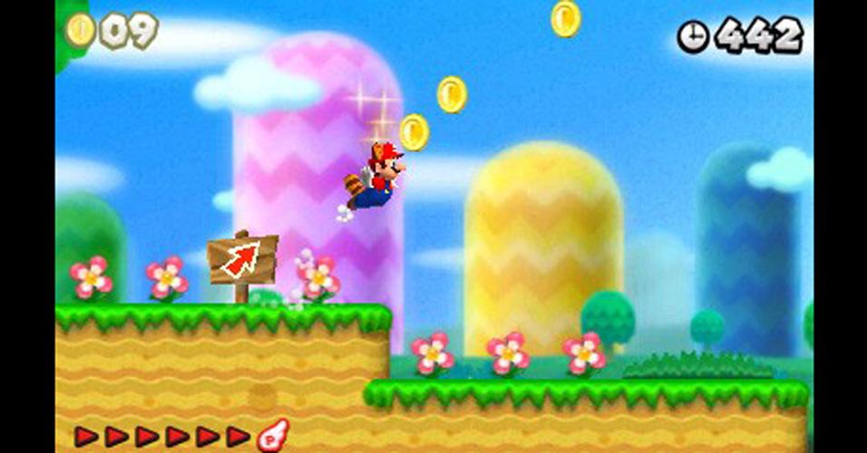 Com direito ao nostálgico rabo de guaxinim, Mario vai em busca de milhares de moedas em