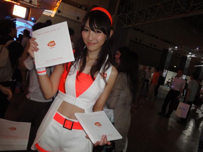 As booth babes também marcaram presença na Namco Bandai