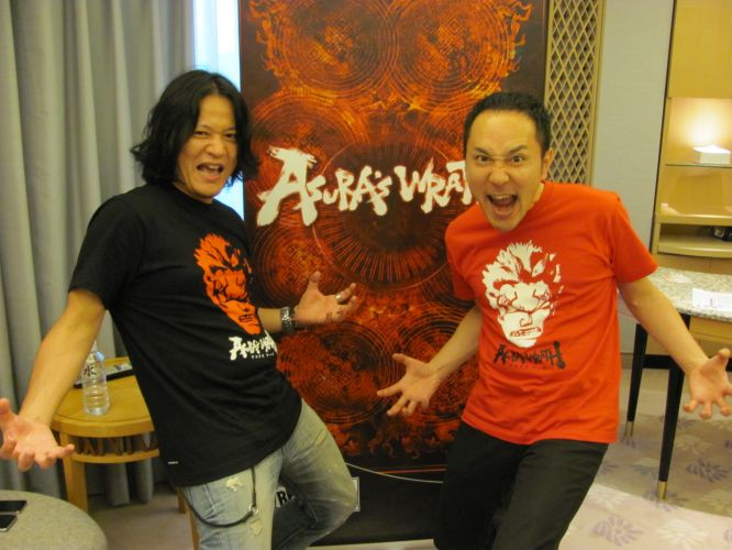 Kazuhiro Tsuchiya e Hiroshi Matsuyama, produtores de