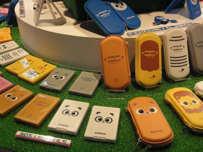 Empresa de acessórios mostrou diversas opções de capinhas e estojos para celulares e portáteis