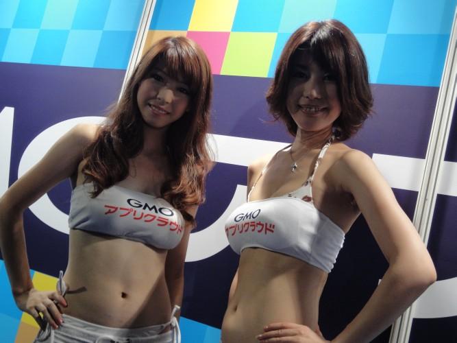 As booth babes formam uma atração a parte em qualquer feira de games