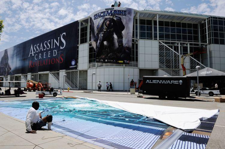 Detalhe das laterais do Los Angeles Convention Center, onde rola a E3 2011