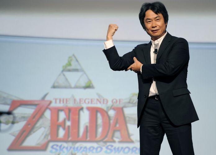 Shigeru Miyamoto, criador do Super Mario, faz piada em conferência pré-E3 da Nintendo, dizendo que está ficando forte de tanto jogar