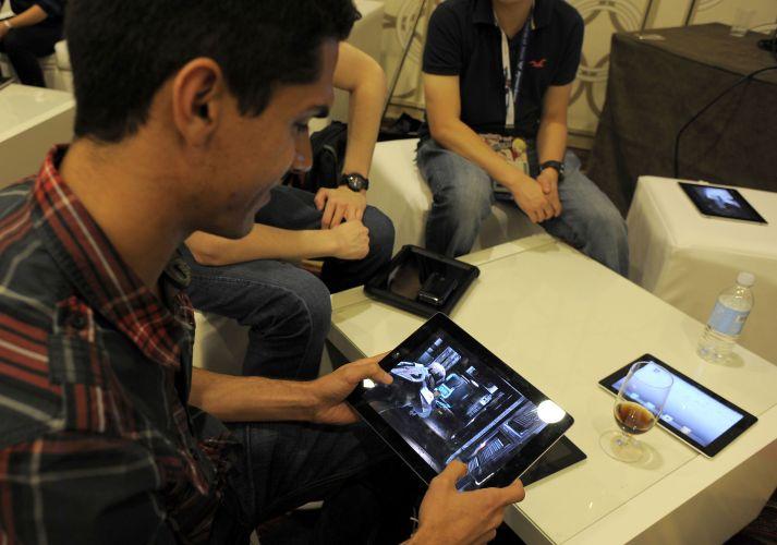 A feira também contou com diversos títulos para tablets como o iPad